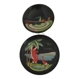 Vintage Souvenir Lacquerware - A Pair For Sale