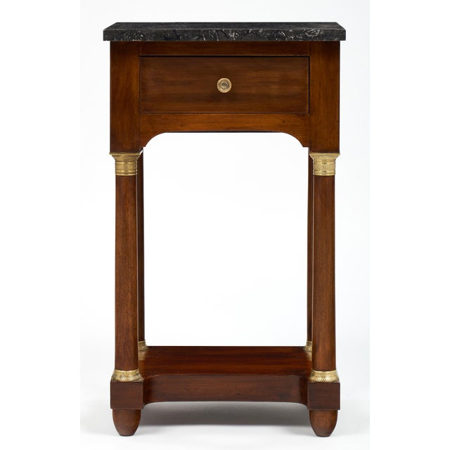 Empire Style Marble Top Side Tables- A Pair - Image 3 of 10