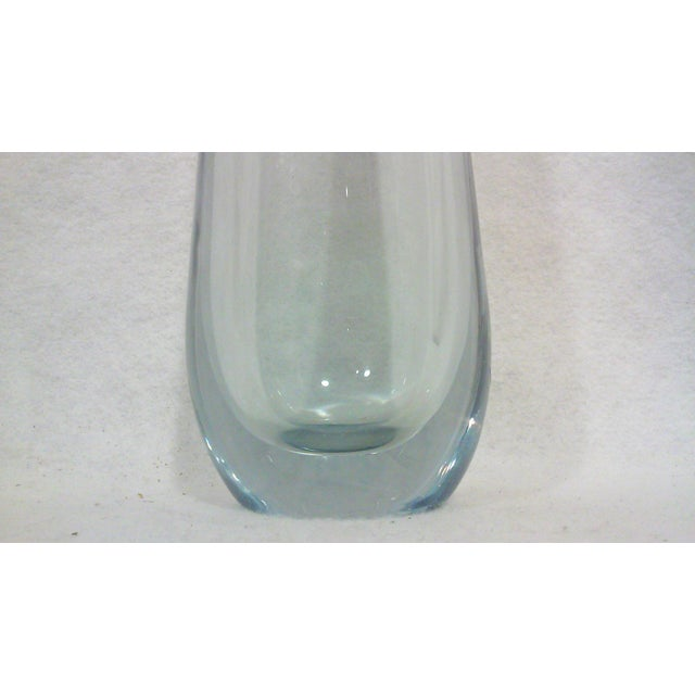 Swedish Tapered Crystal Pale Blue Vase For Sale - Image 4 of 7