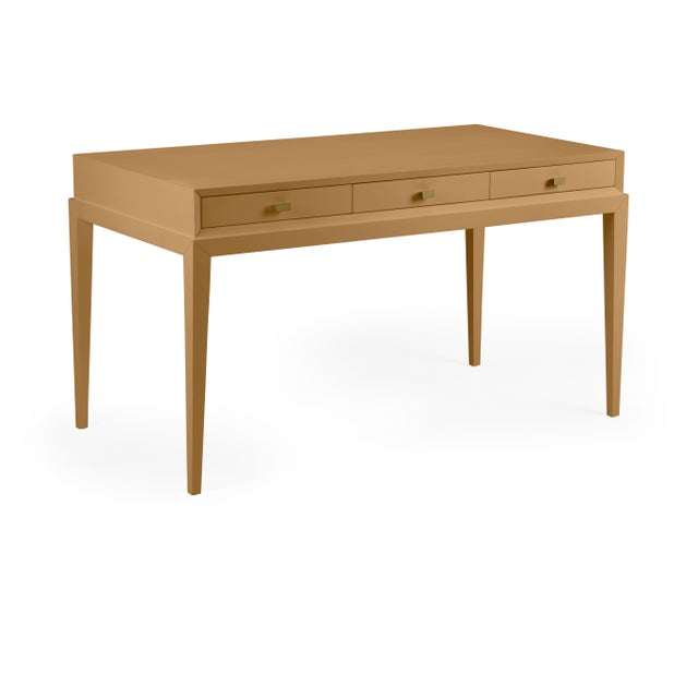 Traditional Casa Cosima Hayes Desk, Mystic Gold For Sale - Image 3 of 3