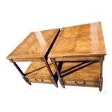 Image of 1950s Mid-Century Modern Baker Furniture End Tables - a Pair For Sale