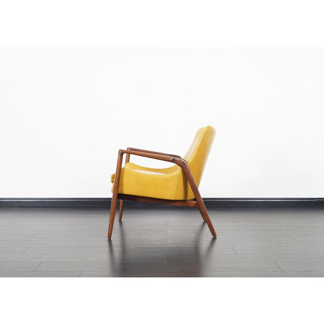 Danish Modern Leather Lounge Chairs by Ib Kofod Larsen For Sale - Image 11 of 13