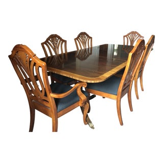 Stickley Extendable Wood Dining Table & Chairs