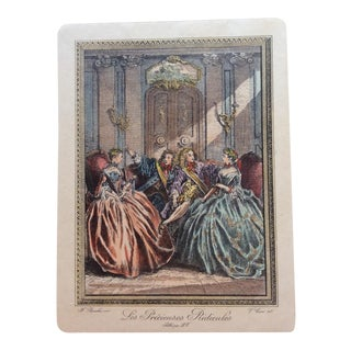 Late 18th Century Antique Francois Boucher French Engraving Print For Sale