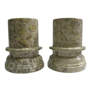 Stone Pillar Bookends - a Pair For Sale