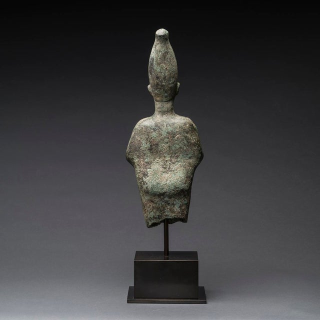 Egyptian Bronze Standing Figure of Osiris For Sale - Image 4 of 5