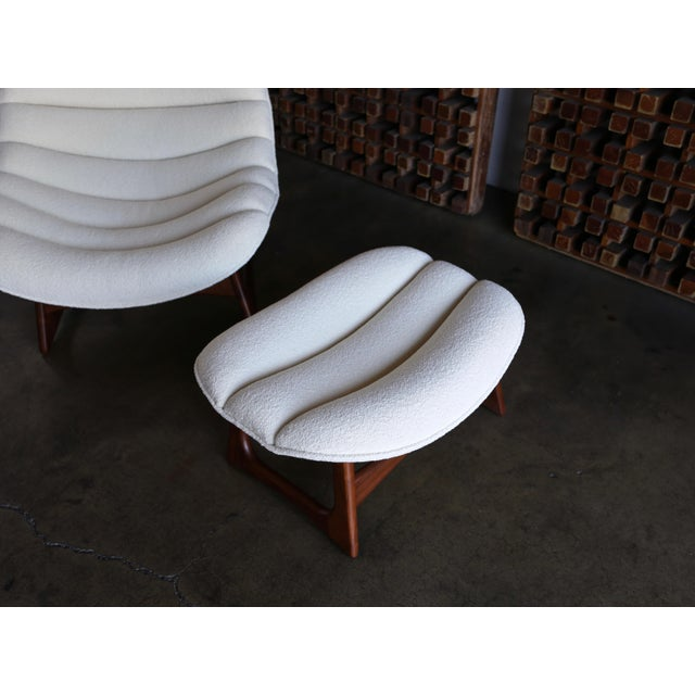 Wood Adrian Pearsall Lounge Chair and Ottoman for Craft Associates Inc., Circa 1960 For Sale - Image 7 of 13