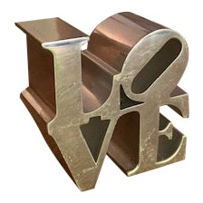 1970s Robert Indiana Love Sculpture/Paperweight For Sale
