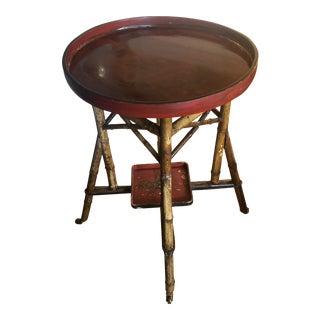 Asian Style Round Tray Table For Sale