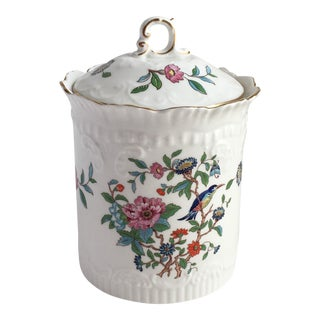 Vintage Aynsley England Biscuit Jar For Sale