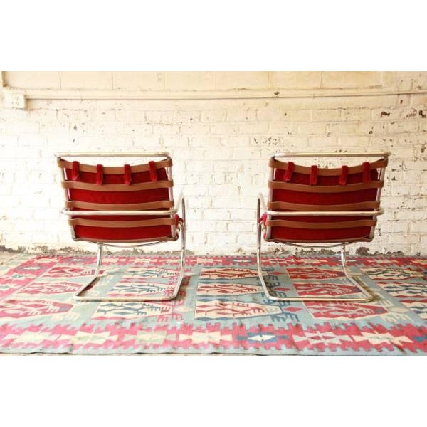 Mies Van der Rohe MR-20 Lounge Chairs - A Pair - Image 5 of 9