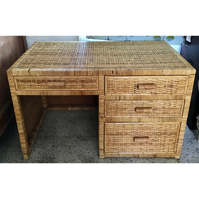 1960s Boho Chic Bielecky Brothers Writing Desk For Sale - Image 12 of 12