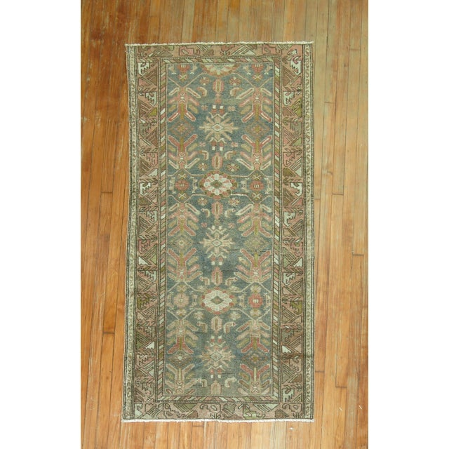 Green Antique Persian Malayer, 3'1'' X 5'11'' For Sale - Image 8 of 8
