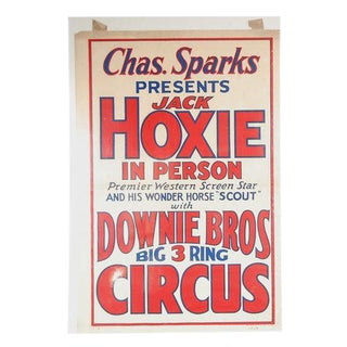 Downie Brothers 1934 Circus Poster For Sale