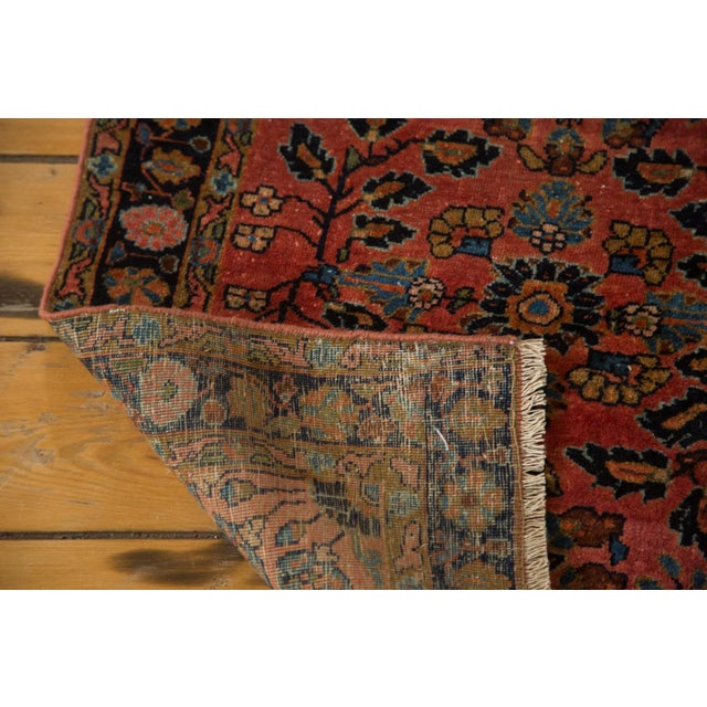 Antique Persian Mohajeran Sarouk Rug Mat - 2' X 3' - Image 6 of 7