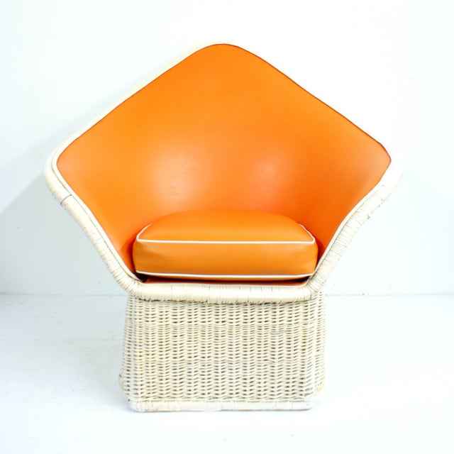 1970s Orange Spade Lounge Chairs - A Pair - Image 2 of 4