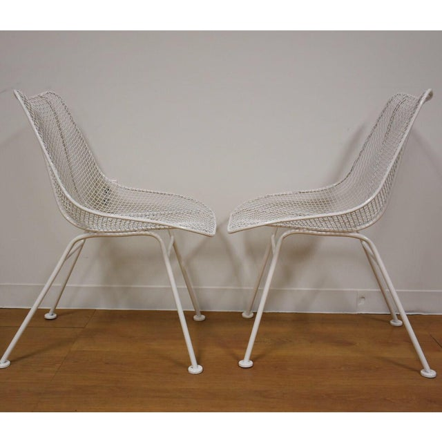 Russell Woodard 'Sculptura' White Patio Dining Chairs- Set of 4 - Image 4 of 7
