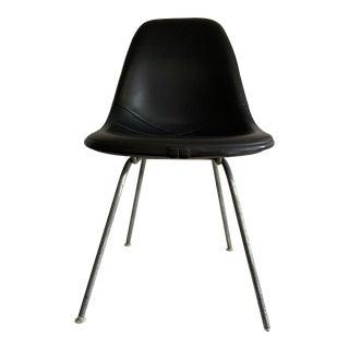 Herman Miller Eames Side Shell Black Naugahyde For Sale