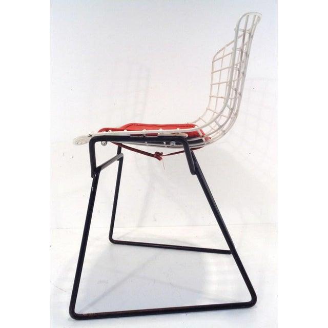 Orange Black & White Harry Bertoia for Knoll Small Children's Chair For Sale - Image 8 of 12