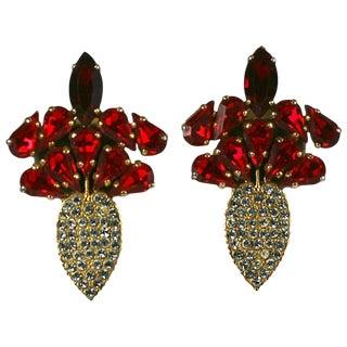 Italian Ruby Paste Radish Earrings For Sale