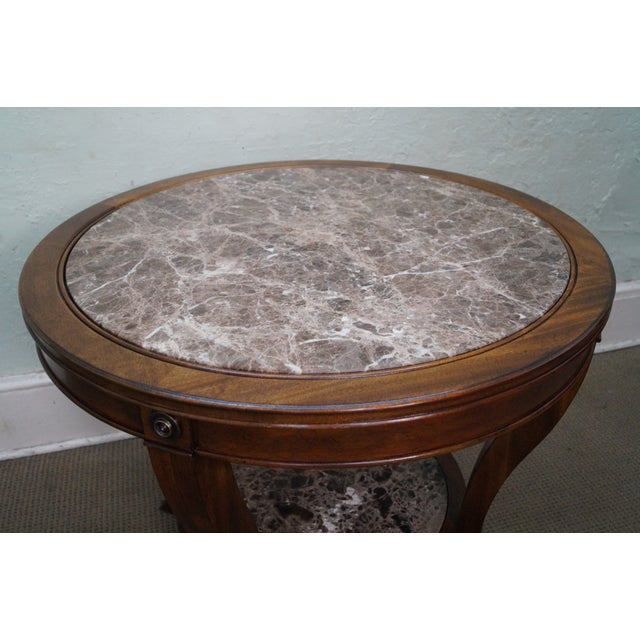 Drexel Heritage Mahogany Regency Center Table - Image 3 of 10