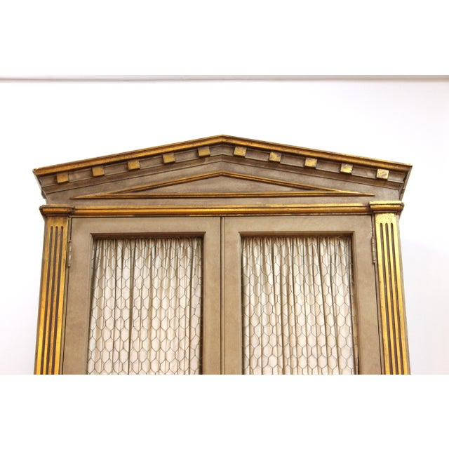 Monumental Neoclassical Revival Style Pedimented Wood Cabinets - a Pair For Sale - Image 10 of 13