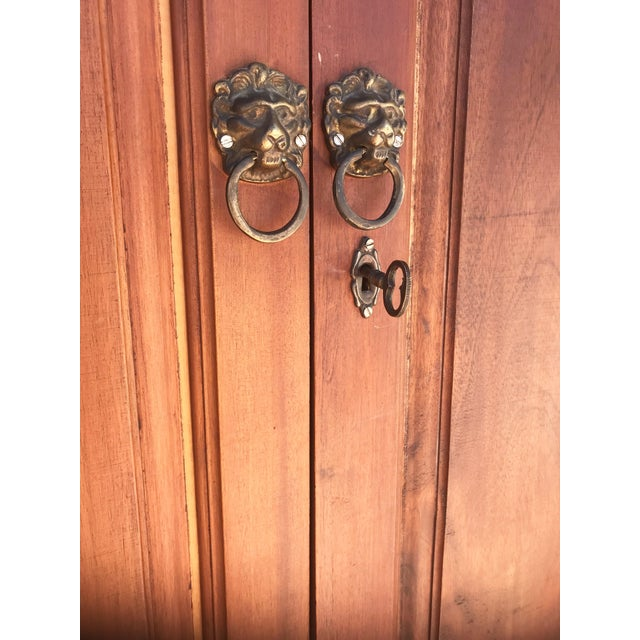 Antique Rustic Spanish Style Armoire For Sale - Image 9 of 13
