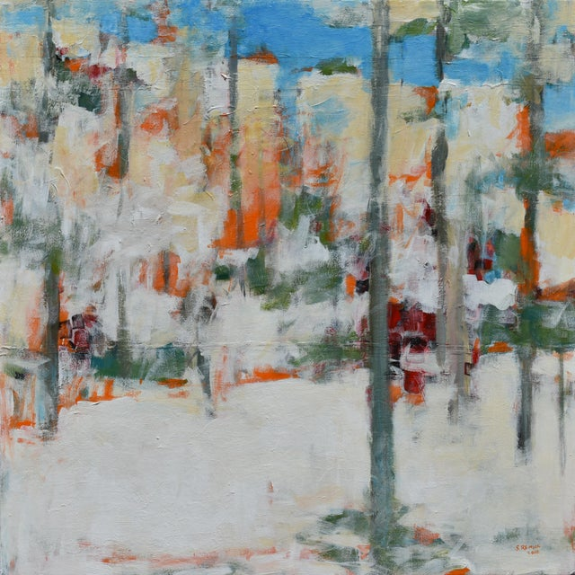 """Modern """"Hunters in the Snow"""" Abstract Painting by Stephen Remick For Sale - Image 13 of 13"""