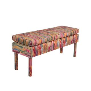 20th Century Milo Baughman Upholstered Bench For Sale