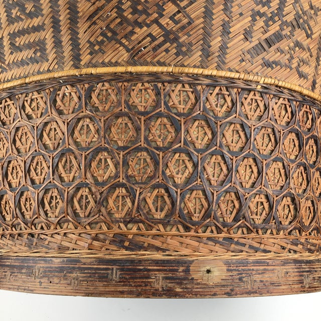 Chinese Antique Large Woven Empress Basket For Sale In Portland, ME - Image 6 of 13