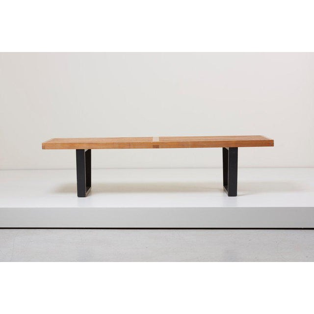 George Nelson Slat Bench for Herman Miller, Us, 1950s For Sale - Image 6 of 6