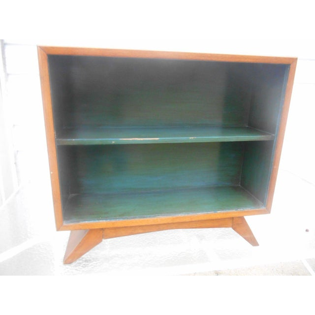 Awesome 1930's Art Deco Petite Bookcase China Cabinet with Sliding Glass Doors. This Rare Beauty is truly a period Art...