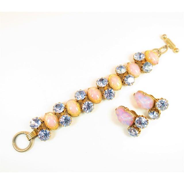 Schiaparelli Opal Art Glass Bracelet Suite 1950s For Sale - Image 13 of 13