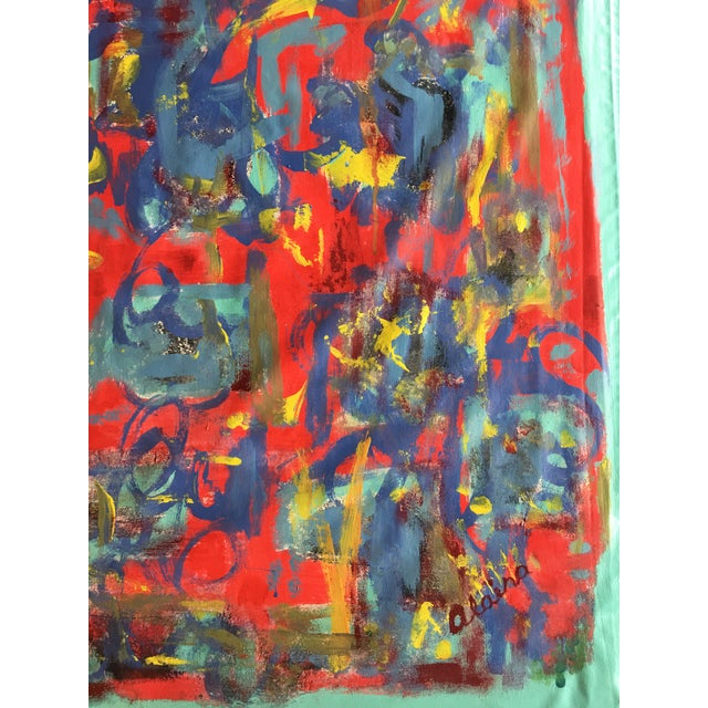 """2010s Abstract """"What Should I Do?"""" Acrylic Painting by Alaina Suga Lane For Sale - Image 5 of 8"""