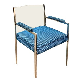 Mid Century Chrome and Lucite Arm Chair For Sale