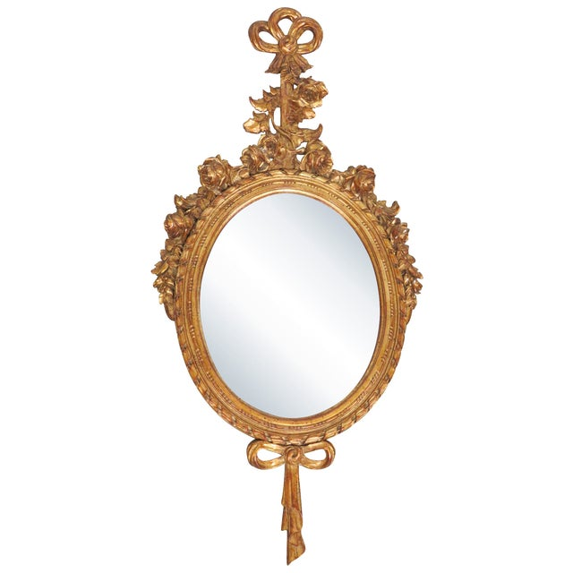 French Style Oval Gilt Mirror - Image 1 of 6