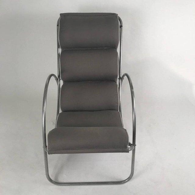 Pair of Halliburton Lounge Chairs, 1930s Art Deco Machine Age Modernist Design For Sale - Image 9 of 10