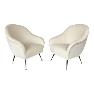Antonio Gorgone Italian Lounge Chairs - A Pair
