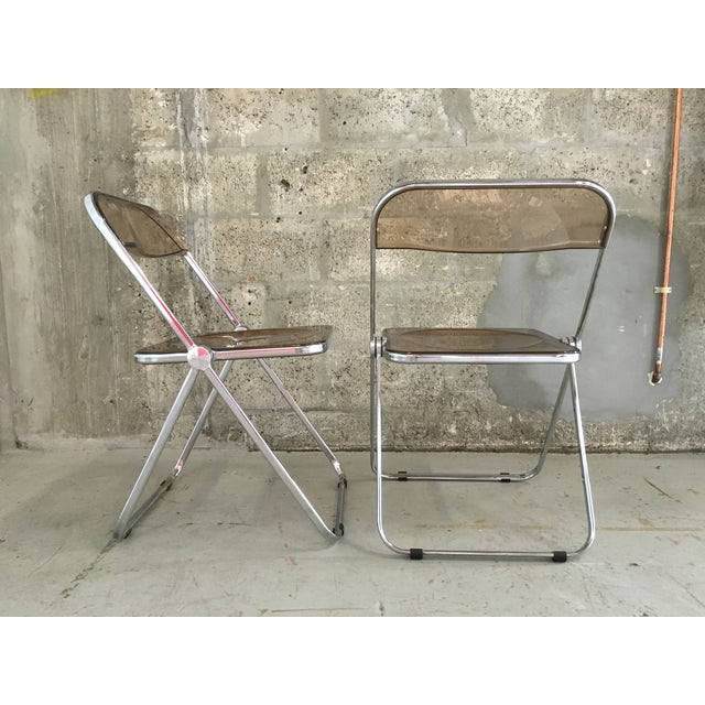 Plia Folding Chairs by Giancarlo Piretti - A Pair - Image 6 of 11