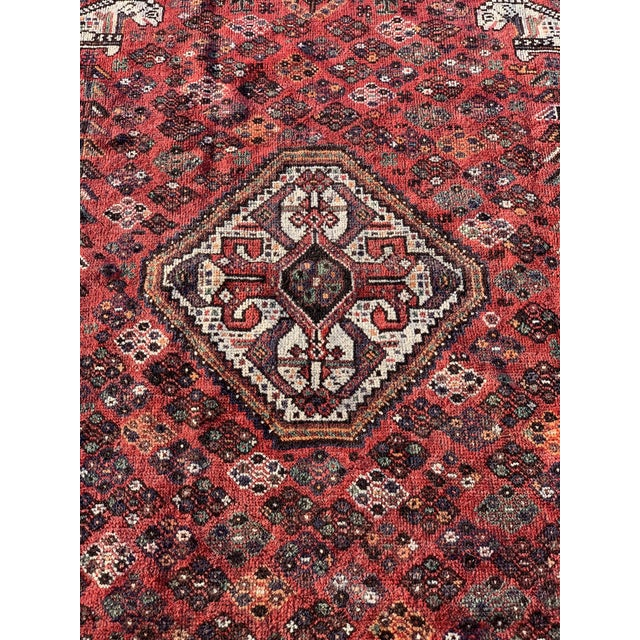 1940s Vintage Persian Qasghi Rug - 5′1″ × 7′10″ For Sale - Image 4 of 13