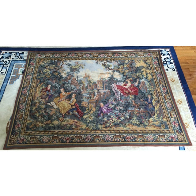 Gift purchased in Belgium Tapestry of Jean Honoré Fragonard's The Swing This is a large piece (See size) Hangs from...