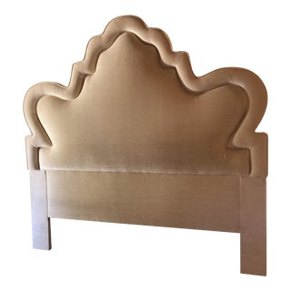 Custom King French Provincial Upholstered Headboard