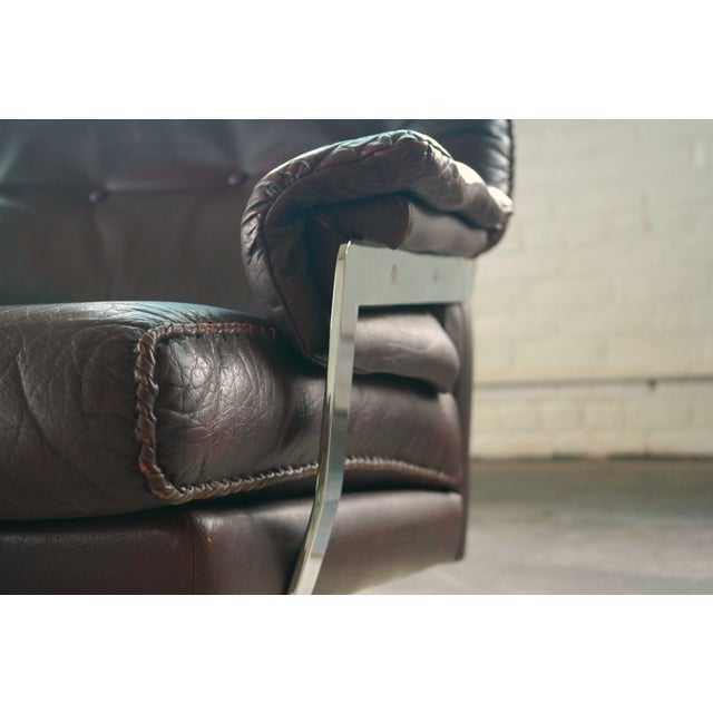 Arne Norell Hand-Stitched Leather Lounge Chair - Image 3 of 10
