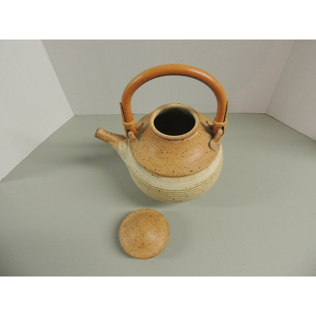 Vintage Art Pottery Ceramic Teapot - Image 4 of 4