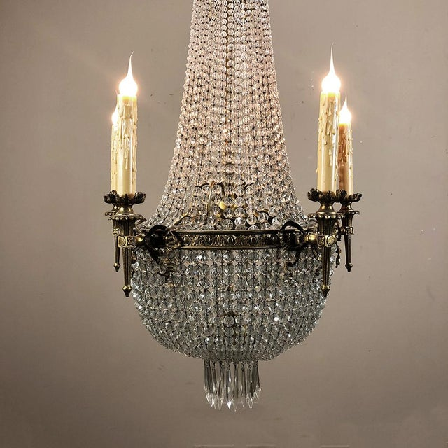 Antique Sack of Pearls Crystal Chandelier For Sale In Baton Rouge - Image 6 of 13