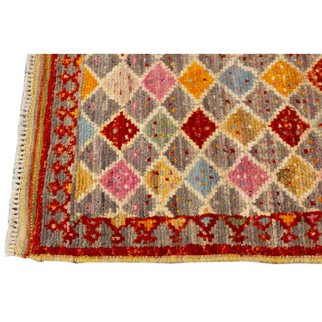"Modern Gabbeh Rug, 2'0"" X 5'2"" For Sale - Image 4 of 10"