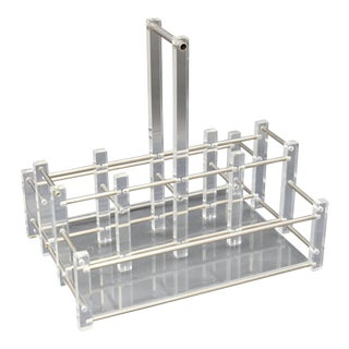 Modern Acrylic Bar Caddy For Sale