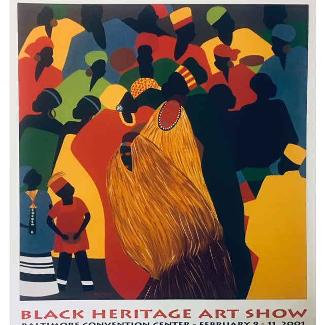 """Americana 1996 Black Heritage Art Show """"Celebration"""" Poster by Synthia Saint James For Sale - Image 3 of 11"""