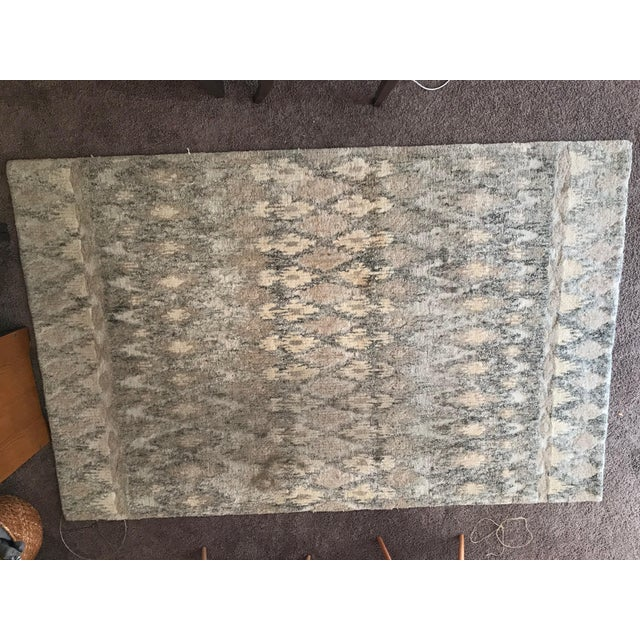 West Elm West Elm Handcrafted Ikat Wool For Sale - Image 4 of 11
