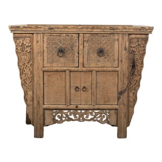 Antique Chinese Elm Cabinet For Sale